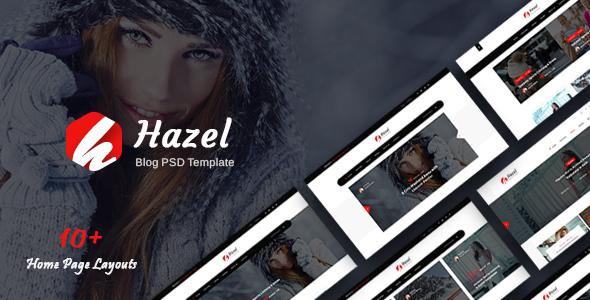 Hazel — Personal Blog PSD Template