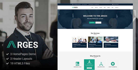 Arges — Corporate & Business HTML5 Template