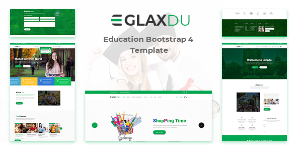 Glaxdu — Education Bootstrap 4 Template