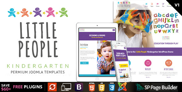 Little People — Kindergarten Joomla Template for PreScool and infants, nurseries and play school