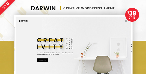 Darwin v3.0 — Creative WordPress Theme