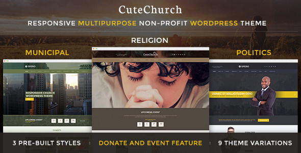 CuteChurch WP Theme v2.1.0