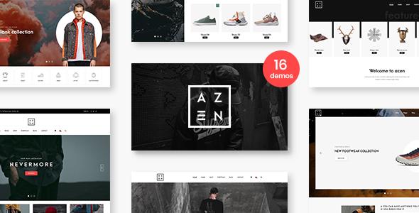 Azen v1.0 — Clean, Minimal Shop PSD Template