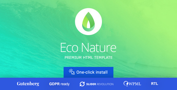 Eco Nature v1.4.1 — Environment & Ecology Theme