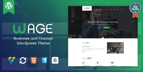 Wage v1.1 — Business and Finance WordPress Theme