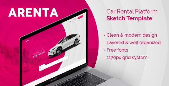 Arenta — Car Rental Platform Sketch Template