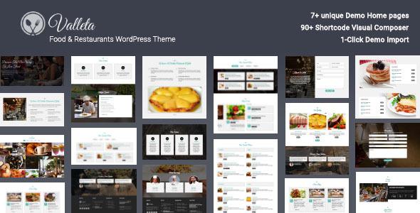 Valleta v1.2 — Food & Restaurants WordPress Theme