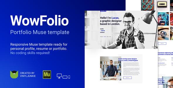 WowFolio — Responsive Portfolio / Resume Muse Template