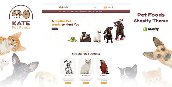 Kate v1.1 — Dog & Pets Food Store Shopify Theme