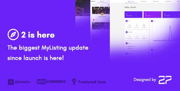 MyListing v2.0.6 — Directory & Listing WordPress Theme