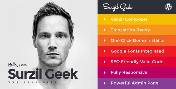 Geek v1.5 — Personal Resume & Portfolio Theme
