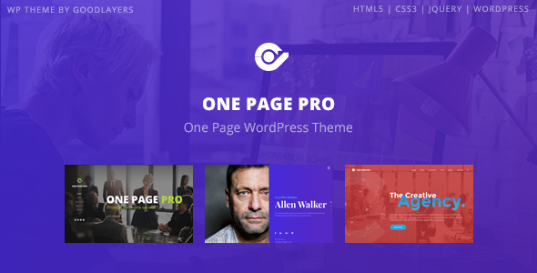 One Page Pro v1.2.1 — Multi Purpose OnePage Theme