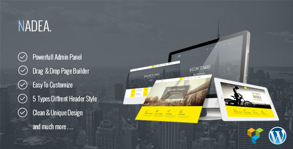 Nadea v1.0 — Responsive Multi-Purpose WordPress Theme