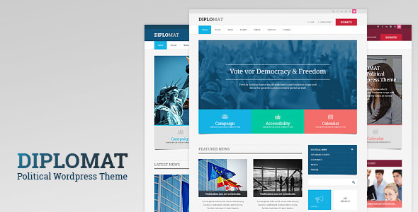 Diplomat v1.2 — Political Candidate / Party WordPress Theme