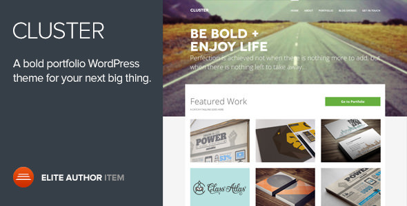 Cluster v2.0.4 — A Bold Portfolio WordPress Theme