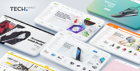 Techmarket v1.2.10 — Multi-demo & Electronics Store Theme