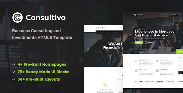 Consultivo — Business Consulting and Investments HTML5 Template
