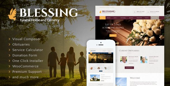Blessing v3.2 — Funeral Home WordPress Theme