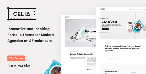 Celia — Innovative and Inspiring Portfolio HTML5 Template for Modern Agencies and Freelancers