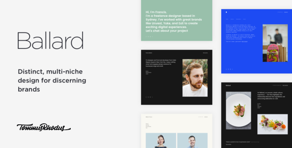 Ballard v1.0.3 — Responsive CV WordPress Theme