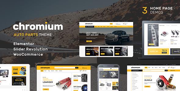 Chromium v1.1.4 — Auto Parts Shop WordPress Theme