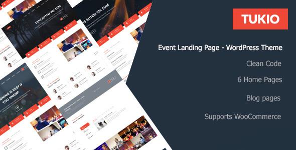Tukio v1.0.1 — Event Landing Page WordPress Theme
