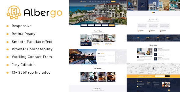 Albergo — Hotel and Resort HTML5 Template
