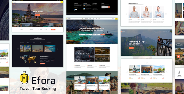 Efora v1.0 — Travel, Tour Booking Theme
