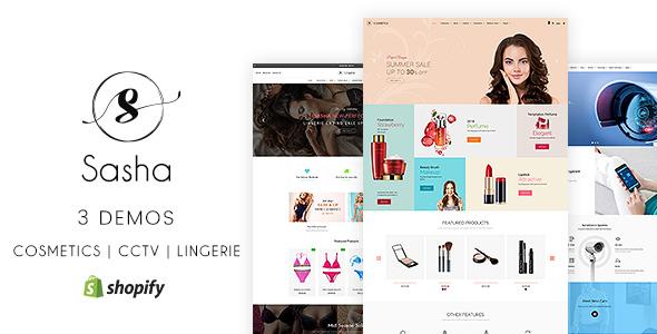 Sasha v1.1 — Cosmetics, CCTV, lingerie Shopify Theme