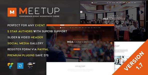 Meetup v1.7 — Conference Event WordPress Theme