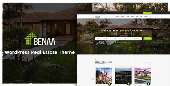 Benaa v1.2 — Real Estate WordPress Theme