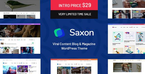 Saxon v1.3.3 — Viral Content Blog & Magazine Theme