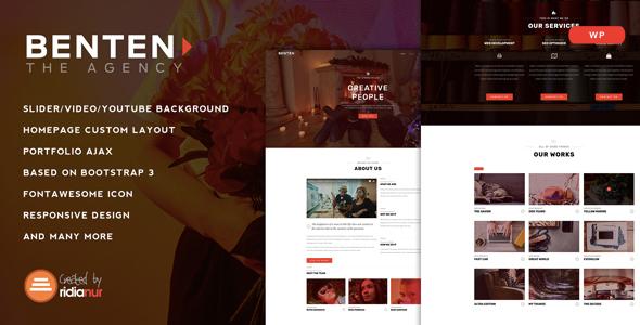 Benten v1.1 — Responsive One Page Portfolio Theme
