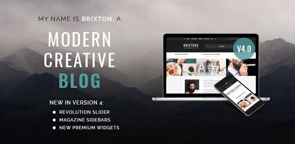 Brixton v5.0 — WordPress Blog Theme