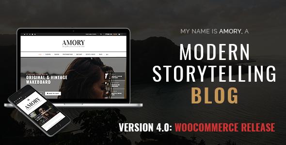 Amory Blog v4.3 — A Responsive WordPress Blog Theme