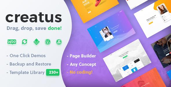 Creatus v1.1.2 — Ultimate Multipurpose WordPress Theme