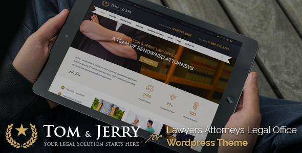 Tom & Jerry v1.1.1 — A WordPress Law and Business Theme