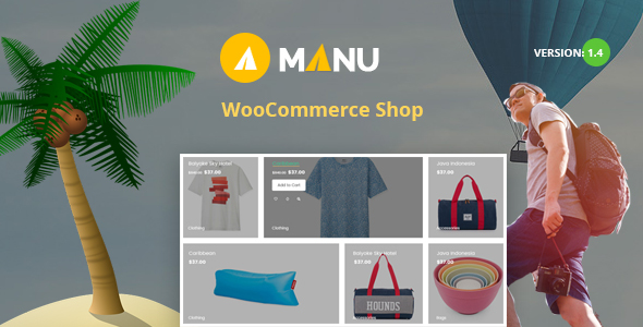 Manu v1.4 — Travel Store WooCommerce Theme