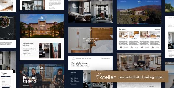 Hoteller v1.1 — Hotel Booking WordPress