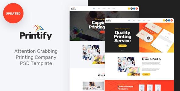 Printify — Attention Grabbing Printing Company PSD Template