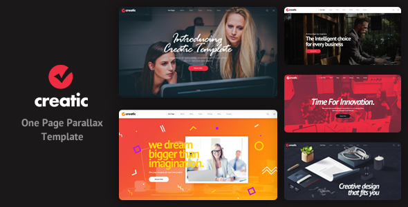 Creatic — One Page Creative Parallax Template