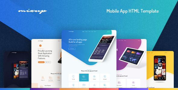 Mixup — App Landing Page HTML Template