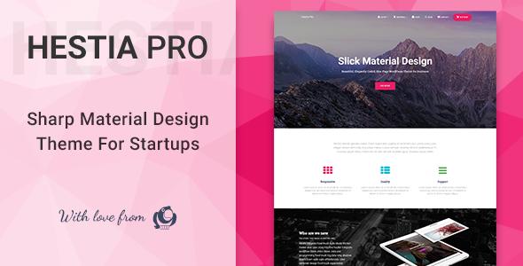 Hestia Pro v2.1.0 — Sharp Material Design Theme For Startups
