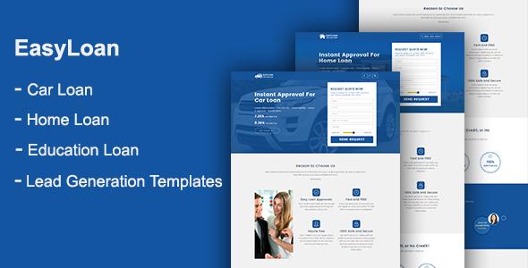 EasyLoan — Loan Company Website Templates