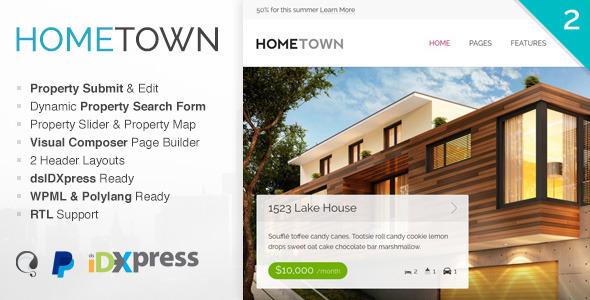 Hometown v2.9.0 — Real Estate WordPress Theme