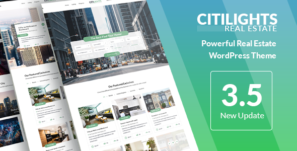 CitiLights v3.5.5 — Real Estate WordPress Theme