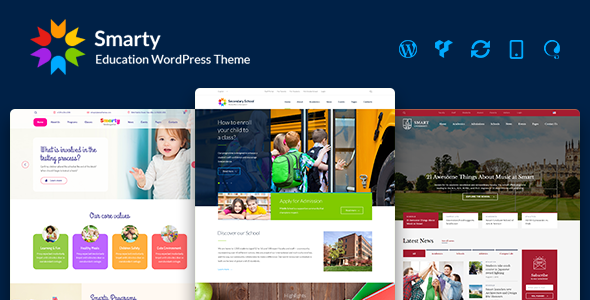 Smarty v3.0.3 — Education WordPress Theme for Kindergarten
