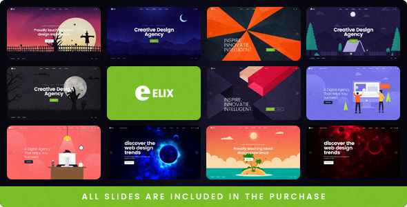 Elix — A Super PSD Template for Designers, Artists and Agencies