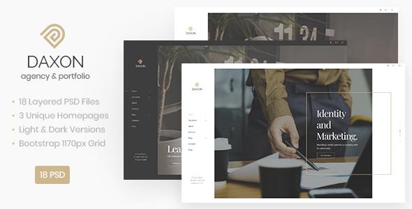 Daxon — Agency / Portfolio PSD Template