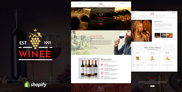Winee v1.1 — Wine, Winery Shopify Theme